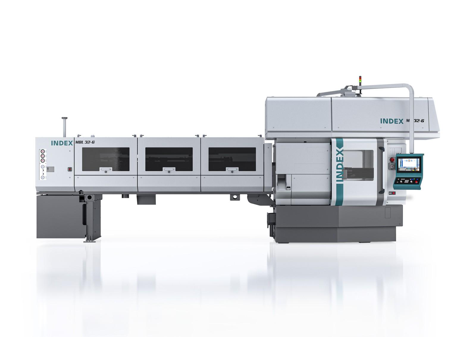 Mit Hilfe der Index MS32 lassen sich komplexe Drehteile bis Ø 32 mm fertigen.